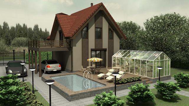 коттеджи и загородные дома фото